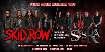 SKID ROW + SISKA live